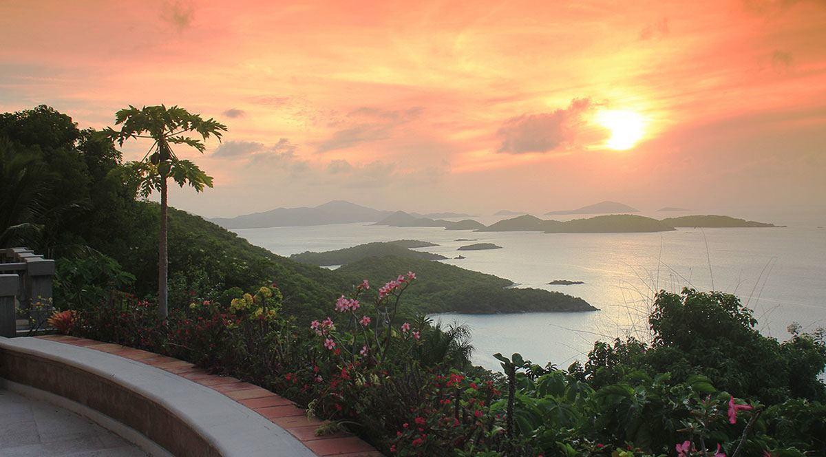 st john island sunset