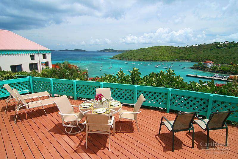 The view from your deck - overlooking Cruz Bay Harbor
